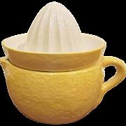 Goebel W. Germany 2 Piece Pottery Yellow Lemon Reamer Juicer