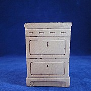 "Strombecker 3/4"" Apartment Stove Cream Dollhouse Furniture"