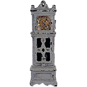 "Kilgore 1/2"" Cast Iron Grandfather Clock Dollhouse Furniture"