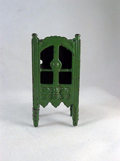 "Kilgore 1/2"" Cast Iron Medium Green China Cabinet Dollhouse Furniture"