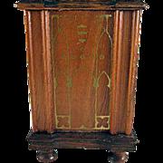 """Strombecker 1"""" 1936 Walnut Floor Radio Dollhouse Furniture"""