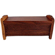 "Strombecker 1"" 1936 Walnut Hope or Blanket Chest Dollhouse Furniture"