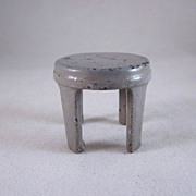"Kilgore 3/4"" Cast Iron Gray Kitchen Stool Dollhouse Furniture"