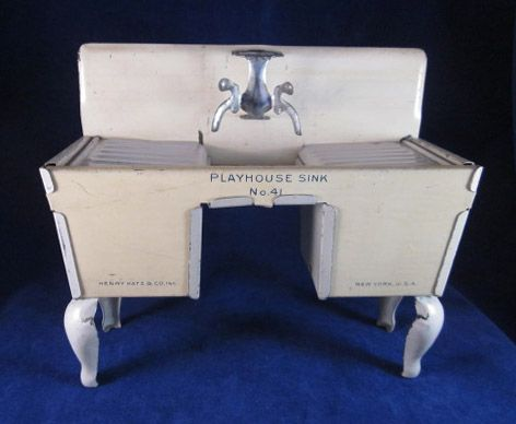 Henry Katz Tin 'Playhouse Sink' Doll Furniture