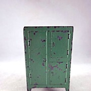 "Tootsie Toy 1930s 1/2"" Ice Box, Refrigerator Dollhouse Furniture"