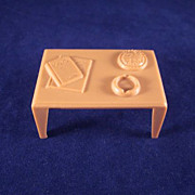 "Marx 1/2"" Coffee Table with Magazines, an Ash Tray and a Pie Dollhouse Furniture"