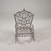"Adrian Cooke 'Fairy' 1/2"" Soft Metal Rocker Dollhouse Furniture"