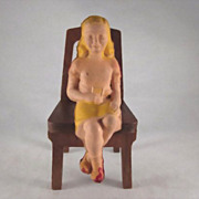 Gerber Plastics Sitting Girl Dollhouse Doll