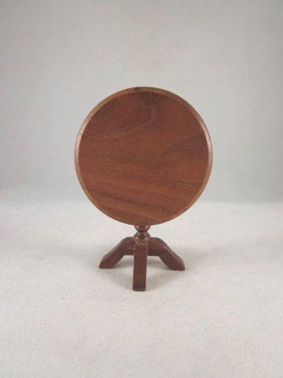 """Strombecker 1"""" Custom Built Walnut Tilt Top Table Dollnouse Furniture"""