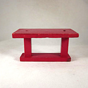 "Jaymar Happy Hour 3/4"" Library Table Dollhouse Furniture"
