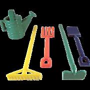 Irwin 5 piece Garden Tool Set Complete Dollhouse Accessories