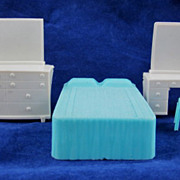 "Superior 1/2"" 4 Piece Bedroom Dollhouse Furniture"