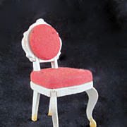 """Lundby 2/3"""" 1960s Rococo Bedroom Chair Dollhouse Furniture"""