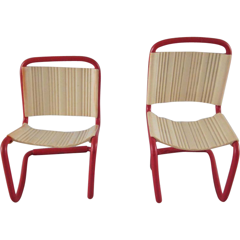 Ardee 3 4 Plastic Pair Of Kitchen Chairs Dollhouse Furniture From Milkweedantiques On Ruby Lane