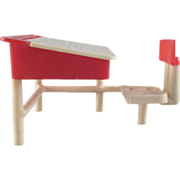 HOLD Thomas Toys Hard Plastic School Desk Dollhouse Furniture