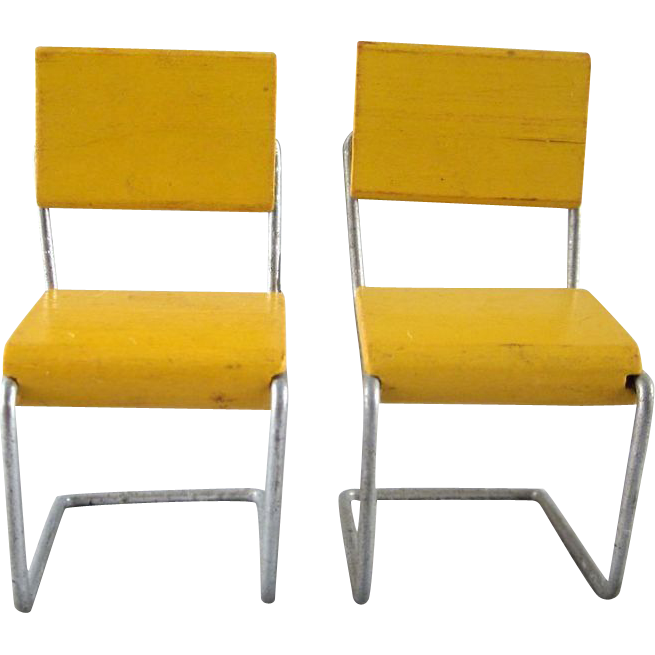 Pair of Strombecker 3 4  Wood   Wire Mid Century Modern Kitchen Chairs  Dollhouse Furniture. Pair of Strombecker 3 4  Wood   Wire Mid Century Modern Kitchen