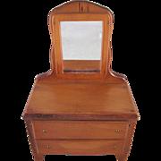 "Wanner, Grand Rapids 1-1/2"" Dresser with Mirror Dollhouse Furniture"