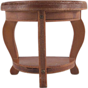 "Wanner, Grand Rapids 1-1/2"" Half Turtle Back End Table Dollhouse Furniture"