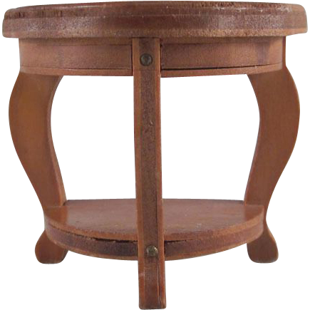 Wanner Grand Rapids 1 1 2 Half Turtle Back End Table