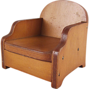 "Wanner, Grand Rapids 1-1/2"" Club Chair Dollhouse Furniture"