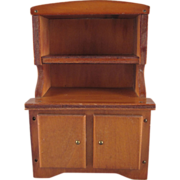 """Wanner, Grand Rapids 1-1/2"""" China Cabinet Dollhouse Furniture"""