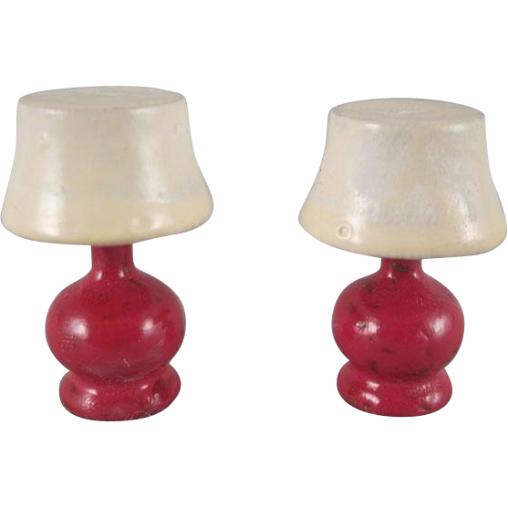"""Strombecker 3/4"""" Pair of Table Lamps Dollhouse Accessories from ..."""