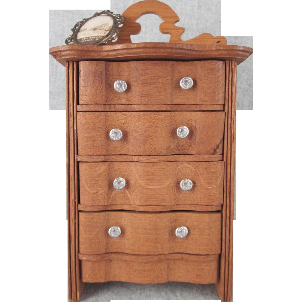 """Schneegas 1"""" Golden Oak Highboy Dollhouse Furniture from"""