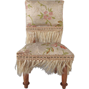 "Silk Covered 3/4"" Parlor Chair Dollhouse Furniture"