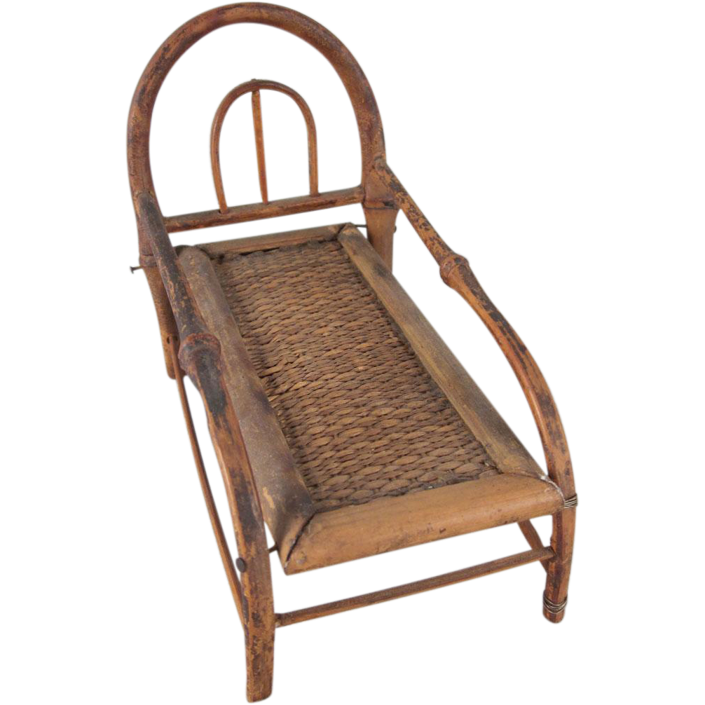 Made in japan 1 bamboo chaise lounge dollhouse furniture for Bamboo chaise lounge