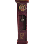 Wooden Gottschalk Grandfather Clock Dollhouse Furniture