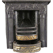 Early Tin Fireplace Dollhouse Furniture