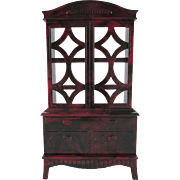 "Ideal 3/4"" China Cabinet Dollhouse Furniture"