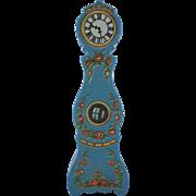"Lundby 3/4"" Blue Leksand Grandfather Clock Dollhouse Furniture"
