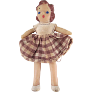 "HOLD Flagg 3/4"" Little Girl Dollhouse Doll"