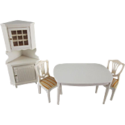 "Lundby 3/4"" Royal 4 Piece Dining Room Dollhouse Furniture"