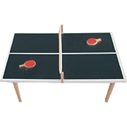 "Lundby 3/4"" Ping Pong Table Dollhouse Furniture"