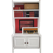 "Lundby 3/4"" White Book Case with Picture Dollhouse Furniture"
