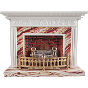 "Lundby 3/4"" Standard Fireplace with Cord Dollhouse Furniture"