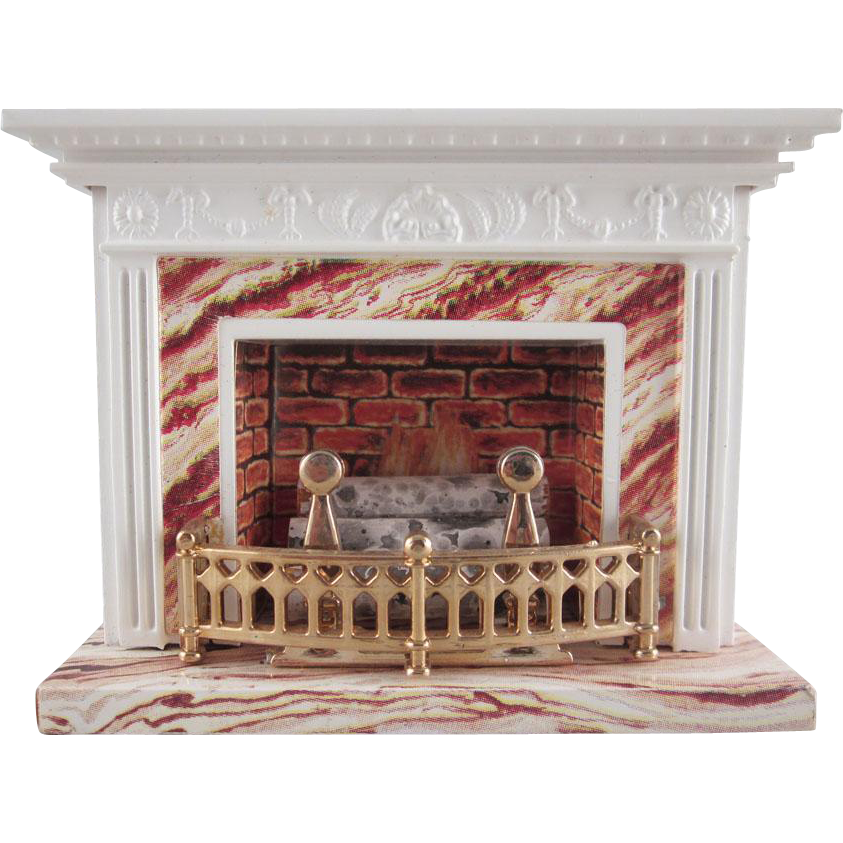 Lundby 3 4 Standard Fireplace With Cord Dollhouse