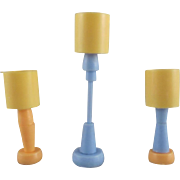"Marx Imagination 1/2"" 3 Lamps Dollhouse Accessories"