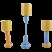 "Marx Imagination 1/2"" 3 Lamps Dollhouse Accessories"