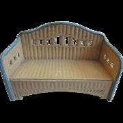 Germany Korbi Patio Bench Dollhouse Furniture