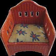 Germany Korbi Orange Patio Chair Dollhouse Furniture