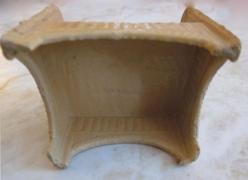 Korbi Germany Dark Mustard Patio Chair Dollhouse Furniture
