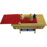 "Renwal 3/4"" No. 89 Hard Plastic Sewing Machine in Primary Colors Dollhouse Furniture"