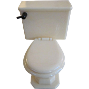 "Renwal 3/4"" No. 97 Toilet Cream and Black Dollhouse Furniture"
