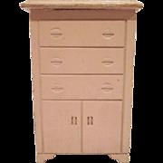 """Strombecker 3/4"""" Pink Highboy Dollhouse Furniture"""