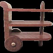 "Strombecker 1"" 1938 Tea Cart Dollhouse Furniture"