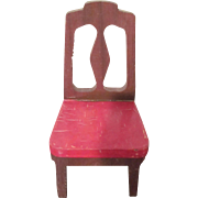 """Strombecker 1"""" 1938 Dining Room Chair Dollhouse Furniture Have 4"""