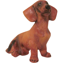 Made in Germany Bisque Dachshund Figurine Perfect for the Dollhouse